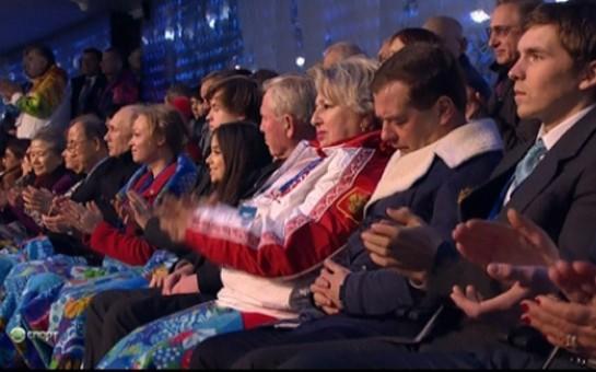 Medvedev Olimpiadanın açılışında yatdı-