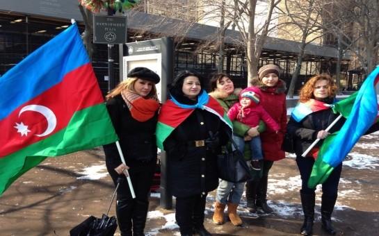 Nyu Yorkda azərbaycanlılar aksiya keçirdi