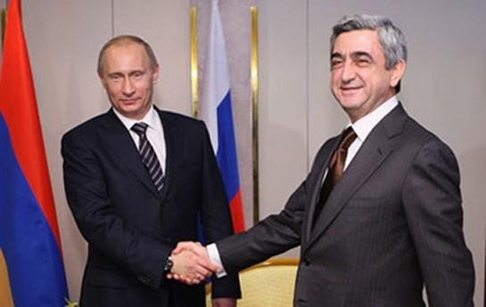 Putin Sarkisyanla Qarabağ münaqişəsinin nizamlanmasını müzakirə edib