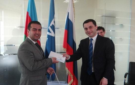 """Bank VTB (Azərbaycan) """"İdeyalar Bankı"""" müsabiqəsinin qalibini təbrik edib"""
