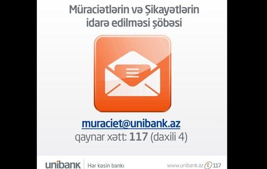 Unibank müştəriləri üçün yeni xidmət