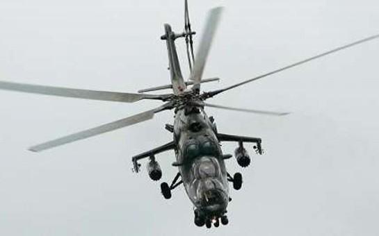 Terrorçular hərbi helikopteri atəşə tutublar