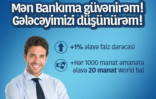 Uğurlu gələcəyiniz üçün əmanətlərinizi Yapı Kredi Bank Azərbaycana yatırın!
