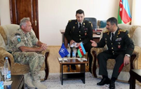 Zakir Həsənov NATO generalı ilə görüşüb