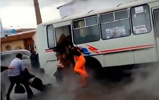 Azərbaycanlıların da olduğu avtobusda dəhşətli hadisə-