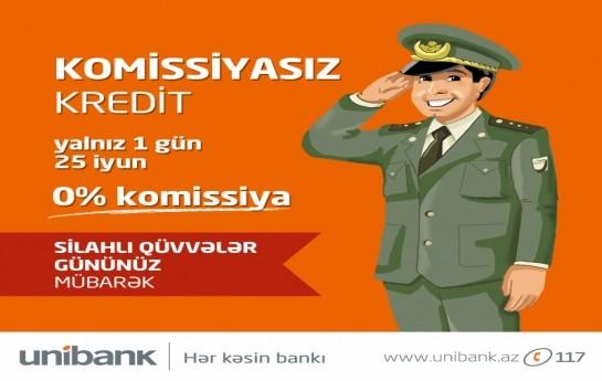 Unibankdan 0 faiz komissiyalı kredit