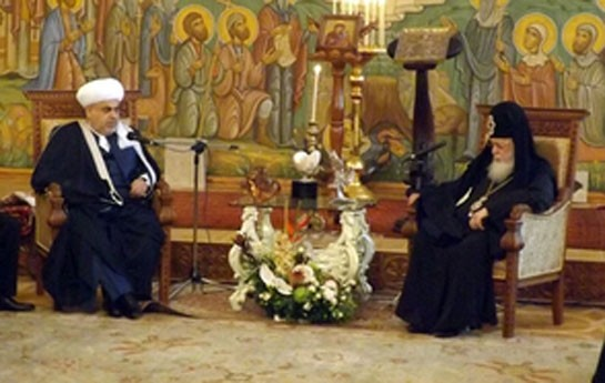 Şeyx katolikos-patriarxı ilə görüşüb-