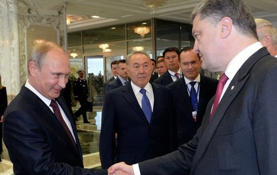 Putinlə Poroşenko görüşü