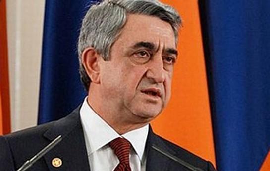 Sarkisyan Ruhanini saxta soyqırımın 100 illiyinə dəvət edib