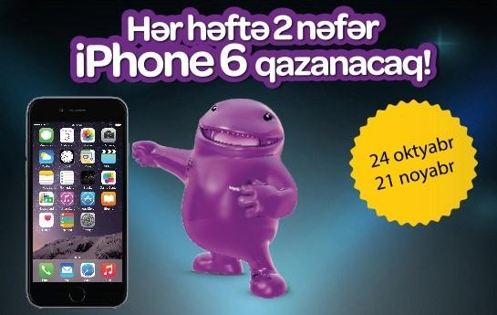 Worldcard-la hər həftə 2 nəfər iPhone 6 qazanacaq!