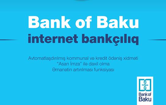 """""""Bank of Baku""""-nun müştərilərinə yenilik:"""