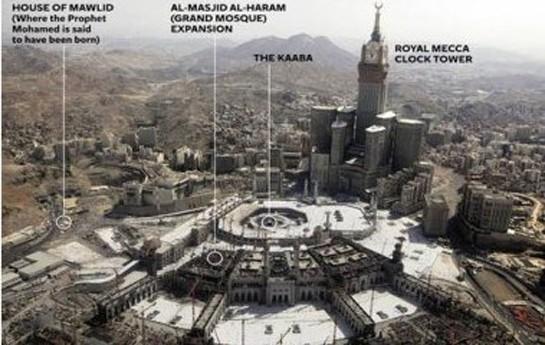 Kral Məhəmməd peyğəmbərin evini sökdürür-