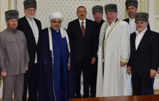 İlham Əliyev din xadimləri ilə görüşdü-