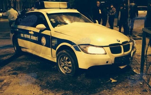 """Polis maşını """"KİA""""nı vurdu, o isə piyadanı..."""