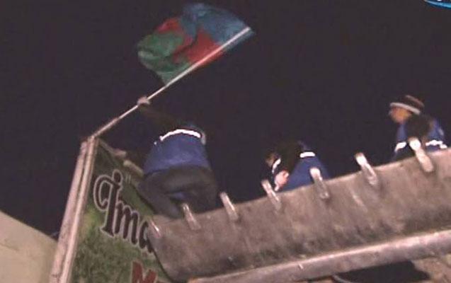 Nardaranın mərkəzində Azərbaycan bayrağı asıldı
