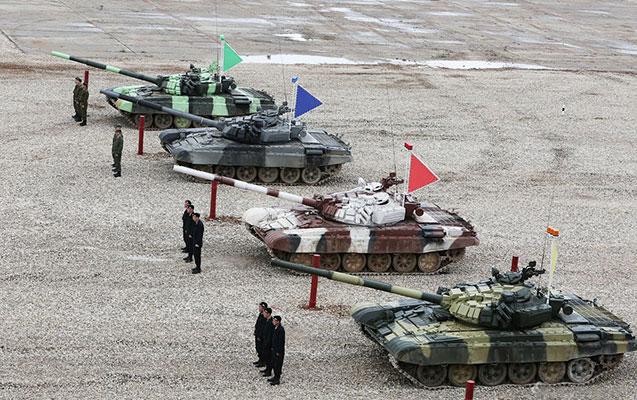 Ruslar Ermənistan dağlarında ordu yarışı keçirirlər