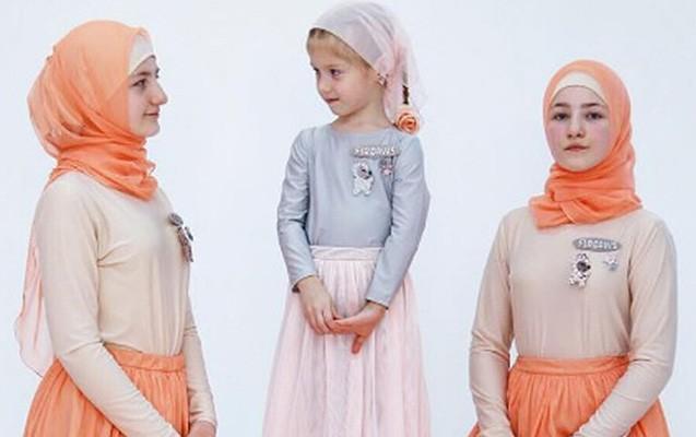 Kadırovun azyaşlı qızları model oldular