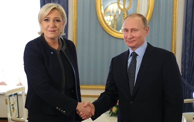 Putin Kremldə fransız müxalifətçi ilə görüşdü