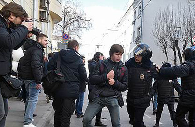 Moskvada icazəsiz aksiya