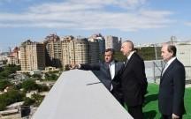 Prezident yeni binanın açılışında