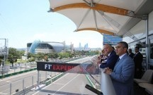 Moldova prezidenti və AAF rəsmiləri Formula 1 Paddokunda