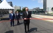 Prezident yeni salınan yolun açılışında iştirak edib