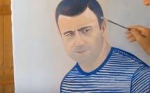 Qurban Qurbanovun portreti belə çəkildi