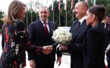 Bolqarıstan lideri və xanımı Bakıda