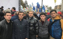 Diasporamız Saakaşviliyə dəstək üçün mitinqə qatıldı