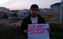 MTN qurbanları Eldar Mahmudovun villasının qarşısında