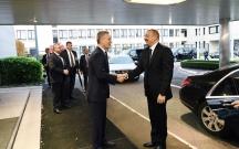 Əliyev Brüsseldə NATO-nun baş katibi ilə görüşüb