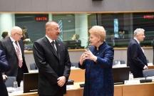 """Prezident Brüsseldə """"Şərq tərəfdaşlığı"""" sammitində"""