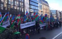 Avropadakı azərbaycanlılar Brüsseldə aksiya keçirdi