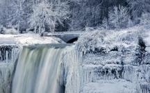 Niaqara buz bağladı