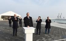 Prezident Dəniz Ticarət Limanında terminalın açılışında