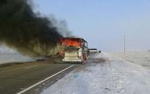 Qazaxıstanda 52 sərnişin avtobusda yanaraq ölüb