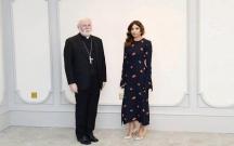 Mehriban Əliyeva Vatikan nümayəndə heyəti ilə görüşüb
