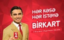 BirKart 10%-dək Cash Back imkanı