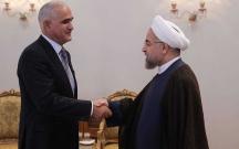 Şahin Mustafayev Ruhaninin qəbulunda
