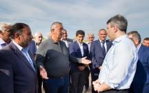 İnam Kərimov Quzanlıda pambıq istehsalçıları ilə görüşüb