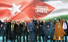 """İstanbulda """"Zülmə lənət, Qüdsə dəstək"""" mitinqi keçirildi"""