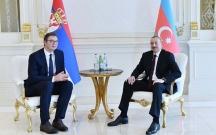 İlham Əliyev Serbiya prezidenti ilə görüşüb