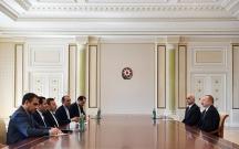 Əliyev İran Prezident Aparatının rəhbərini qəbul edib