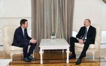 Əliyev Velosipedçilər İttifaqının prezidenti ilə görüşüb