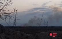 Erməni hərbçilər Azərbaycan torpaqlarını yandırdı