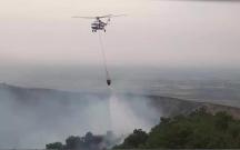 Yanğının söndürülməsinə 2 helikopter cəlb edildi
