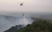 Ağsu dolaylarında yanğını söndürmək üçün helikopter göndərilib