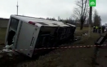 Ukraynada avtobusla avtomobil toqquşdu