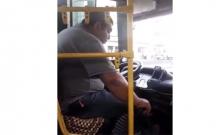 Bakıda avtobus sürücüsü sükan arxasında yuxuladı