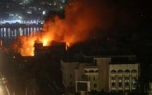 Bəsrədə İranın konsulluğu yandırıldı